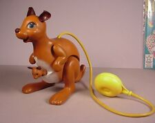 Vintage Fisher Price Katie Kangaroo Pull Toy 1970's with air pump