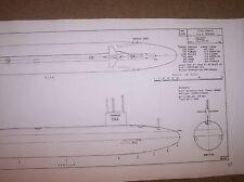 U S S THRESHER  sub SHIP  plan