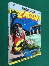 TUTTO ZAGOR RACCOLTA n.65 FOLLIA OMICIDA + IL FANTASMA STONE-HILL Bonelli (1998)