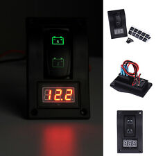 Car Marine Boat Dual Battery Test Panel Rocker Switch +LED Voltage Voltmeter 12V