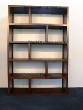Bookcase, W.120xD.32xH.180, Timber, Cube Bookcase, Storage Unit, Shelves.