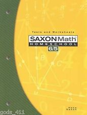 Saxon Math 6/5 : Tests and Worksheets by Saxon Publishers Staff and Stephen...