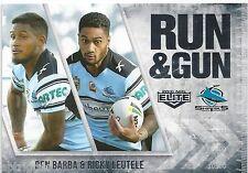 2016 NRL Elite Run & Gun (RG 7 / 32) Ben BARBA / Ricky LEUTELE Sharks
