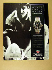 1993 rugby player photo Tag Heuer 1500 Series Watch print Ad