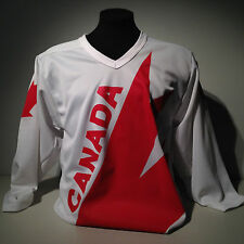 Vintage Throwback National Team Canada Cup Nike Hockey White Jersey 1976-1987-91