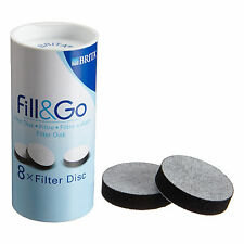BRITA Fill and Go Water Filter Bottle Filter Disc Refill Cartridge Pack of 8