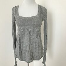Abercrombie & Fitch Knit Sweater S small Table Knit Baby Doll Gray B29