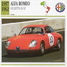 1957-1962 ALFA ROMEO GIULIETTA SS/SZ Racing Classic Car Photo/Info Maxi Card