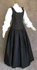 Black Renaissance Bodice Skirt and Chemise Medieval or Pirate Gown Dress 4X