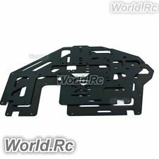 2 Pcs Aluminum Metal Main Frame Black for Trex T-rex 500 Helicopter (GH500-005)