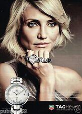 Publicité advertising 2012 La Montre Tag Heuer avec Cameron Diaz