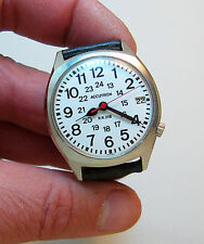 SERVICED VINTAGE 2181F ACCUTRON RAILROAD STAINLESS STEEL TUNING FORK MEN'S WATCH