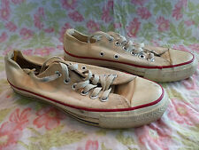 Vintage Converse Chuck Taylor Lo Low Top Shoe 5.5 White Made in USA