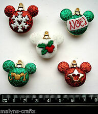 Disney MICKEY ORNAMENTS Craft Buttons Christmas Tree Earrings Girls Boys Charms