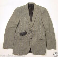 "Ralph Lauren Black Label ""Anthony 2b Nt Ant X"" Black & Cream Check Linen Suit"