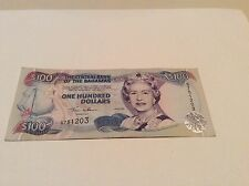 BAHAMAS 2000 P67 $100 NOTE QEII CONDITION:F BEST PRICES ON EBAY!