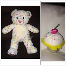 Build a Bear Bake Shop Series Confetti Sprinkles Cupcake Sweet Treats Plush Bear