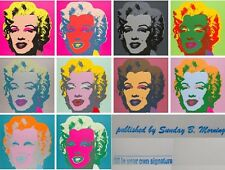 ☆  ANDY WARHOL ☆  Marilyn Monroe Portfolio (10) ☆  Sunday B. Morning ☆  COA