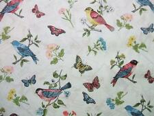 Vintage Journal Overall Birds Butterfly Butterflies Flowers Andover Fabric Yard