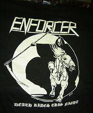 T-Shirt ENFORCER - DEATH RIDES THIS NIGHT * black KEYA HEAVY COTTON SIZE S * NEU