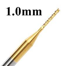 10pcs 1mm Ti PCB Drill Bit Carbide Engraving Mill Cutter CNC Bit Rotary Burrs
