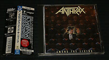 Anthrax Among The Living CD Japan w/OBI  PSCD-1046 1990 Press OUT OF PRINT