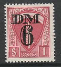 Germany AMG 3079 - Allied Military Government Travel Permit 6Dm Stamp u/m