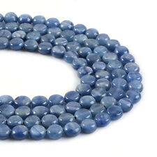 0591 8mm Kyanite Flat Coin Disc loose gemstone beads 16""