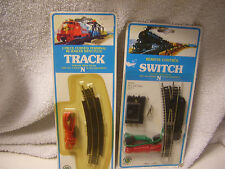 N Gauge Lot Of 2 Packs Bachmann Track Remote Controlled Switch & 1 Curved Termin