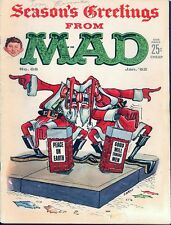 MAD 68 (1961) And 117, 157, 179, 219 Planet of the Apes Christmas Covers Mag Lot