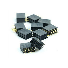 10X 2x4 Pin 2.54mm Double Row Female Straight Header Pitch Sockets Pin Strip S