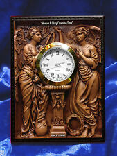 "RMS TITANIC Desk Clock. White Star Line ""Honour & Glory Crowning Time"""