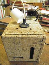 Suspension luminaire lampe  éclairage vintage années 70  cube en liège