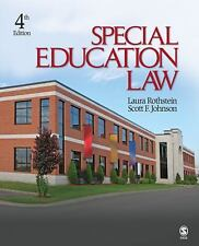 Special Education Law, Johnson, Scott F., Rothstein, Laura F., Good Book