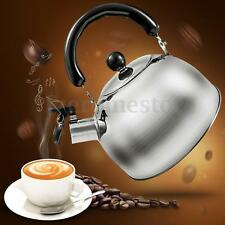 2L Liter Stainless Steel Whistle Tea Kettle Water Cafe Pot Heat Assitant Handle