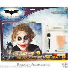 W40WM Mens Batman Dark Knight The Joker Wig and Halloween Make Up Kit (Adult)