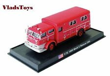 Amercom Fire Trucks 1:72 Mack C Heavy Rescue Truck West Hempstead NY 1960 ACSF49