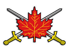 3x5 in Canadian Army Leaf w Crossed Swords SHPAED Sticker -decal military canada