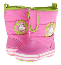 Crocs Crocslights Gust Boot Party Pink/Volt Green Size C10