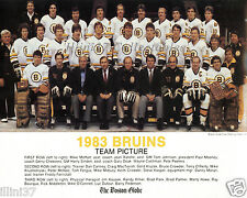 1983 BOSTON BRUINS NHL HOCKEY 8X10 TEAM PHOTO PICTURE