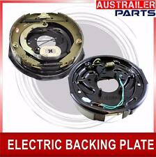 """2 x10"""" ELECTRIC BRAKE BACKING PLATES. STRONG MAGNETS.HAND BRAKE LEVER. TRAILER"""