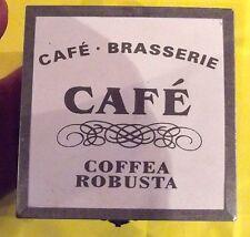 ANCIEN PETIT COFFRET,BOIS CAFÉ ,BRASSERIE ( COFFEE A ROBUSTA ) DECO LOFT CUISINE