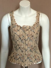 Bustier Corset Cami Tank Top Sz M Beige Frederick's of Hollywood Sleeveless