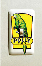 POLLY GAS LIGHT SWITCH DECAL GAS OIL CAN PUMP STICKER MAN CAVE GARAGE