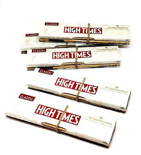 Raw High Times Rolling Papers Kingsize Slim and Tips- 5 Packs Classic - Limited