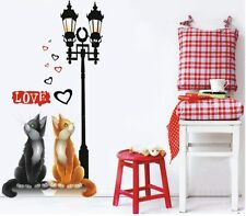 New Wall Sticker Home Decor Art Lamps Love Cats Decal Removable Living Room