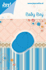 JOY CRAFTS CUTTING & EMBOSSING DIE STENCIL BABY BOY BASEBALL CAP HAT 6002/0209