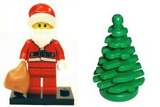 LEGO Santa Minifig Father Christmas With Stand,  Sack & Xmas Tree Gift NEW