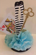 Alice in Wonderland birthday party baby shower table decor centerpiece