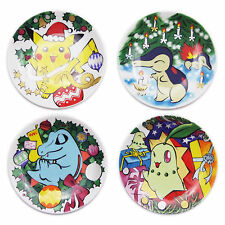 POKEMON Center Limited Edition 1999 Christmas Collector Plate Set Nintendo Japan